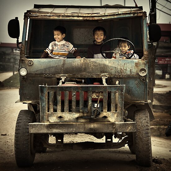 Boys in a Blue Truck #0101 by Michiel de Lange