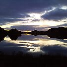 Sunset reflecting on Loch Tarff by caledoniadreamn