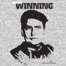 Charlie Sheen Winning T shirt-Blank Background by designerjenb