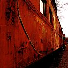 Abandoned Red Train by tconfer983