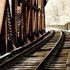 Bridged Railroad Tracks by tconfer983