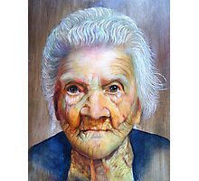 """follow up to """"Grandmother"""" (97 yrs old) Photographic Print"""