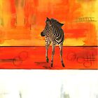Zebra at Sunset by rbj7321