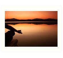 lake yoga! Art Print