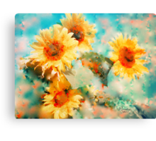 Sunflowers SUPPORT JAPAN EARTHQUAKE AND TSUNAMI RELIEF Canvas Print