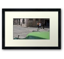 """""""Here they come..."""" (crop) Framed Print"""