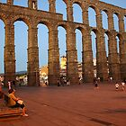 Aqueduct of roman in Segovia by IKGM