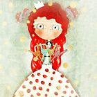 Red hair mushroom doll and company by Ruth Fitta-Schulz