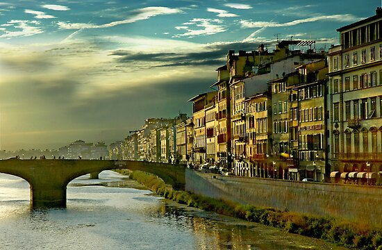 An Italian Sunset in Firenze Italy by Danielle Girouard