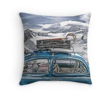 Beetle in the Alps Throw Pillow