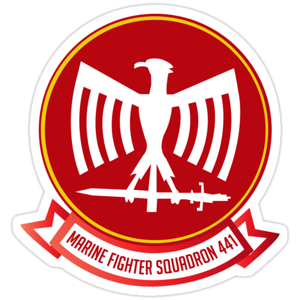 Marine Fighting Squadron 441 Emblem by warbirdwear