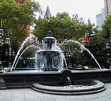 City Hall Park Fountain by AnnDixon