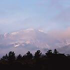 Wispy Clouds over Pikes Peak by RondaKimbrow