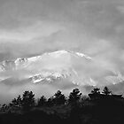 Pikes Peak in B&W by RondaKimbrow