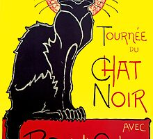 Tournee du Chat Noir Vintage Cabaret Poster by simpsonvisuals