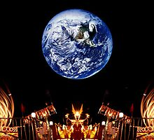Carnival Rides & Earth Rise by ©  Paul W. Faust