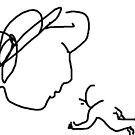 mother and child -(110311c)- mouse drawn/ms paint by paulramnora