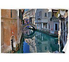 Rio and Bridge de Ca' Widman - Venice Poster