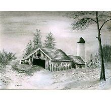 Barn and Silo Photographic Print