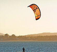The Wello Windsurfer -Wellington Point Qld by Beth  Wode