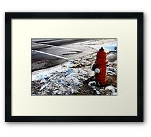 Frozen Fire-Hydrant Framed Print