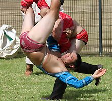 Mongolian Wrestling by Cassandra Purkiss