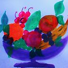 Fruit Bowl, watercolor by Anna  Lewis