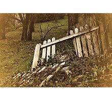 Broken Fences Photographic Print
