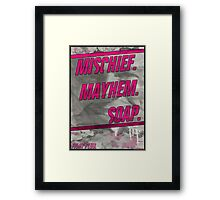 Fight Club Movie Poster Framed Print