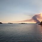 Scarriff Island, Heathland Burning,  by JaffaTorquay