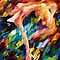 Somersault - original oil painting on canvas by Leonid Afremov by Leonid  Afremov