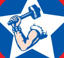 Shield & Hammer Sticker