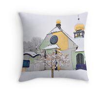 Hundertwasser Church Throw Pillow