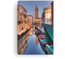 Rio and Church of St. Barnaba Canvas Print