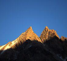 Rocky peak in Kyrgyz Tien-Shan by Michal Cerny
