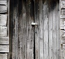 Old Barn Doors With Latch and Key by Jean Gregory  Evans