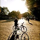 bicycle sunset by HeatherMScholl