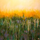 Crocus Field. 24 x 24. Acrylic painting. by csoccio100