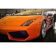 Lamborghini Gallardo in Orange Photographic Print