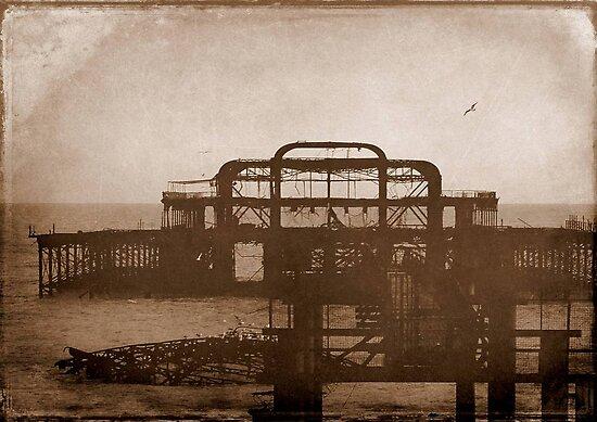 West Pier-UK ...Au revoir mémoire © by Dawn M. Becker