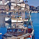 Mevagissey Harbour by David Davies