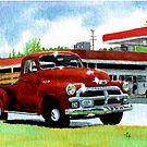 1954 Chevrolet Truck by Yvonne Carter
