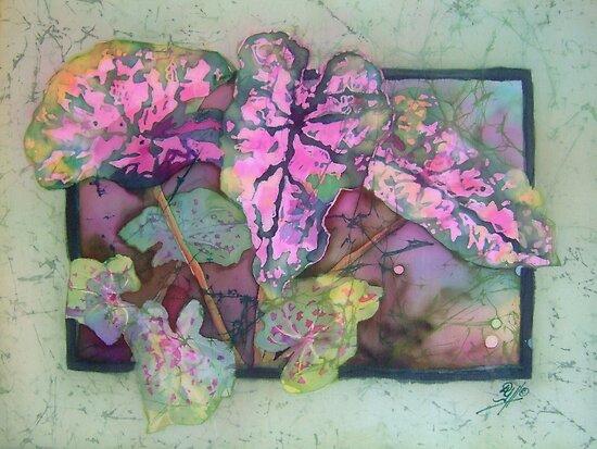 Caladiums 5 by Deborah Younglao