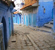 A street in Chefchaouen I by Jamie Alexander