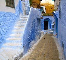 A street in Chefchaouen II by Jamie Alexander