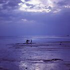 Mother and Daughter at Dusk on Koh Phangan by Anna Lisa Yoder