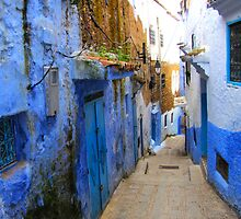 A street in Chefchaouen IV by Jamie Alexander