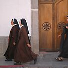 Nuns on the march by Paul McSherry