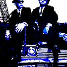 Blues Brothers iconic pop art piece by artist Debbie Boyle - db artstudio by Deborah Boyle