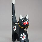 Decorative small wooden cat by IKGM